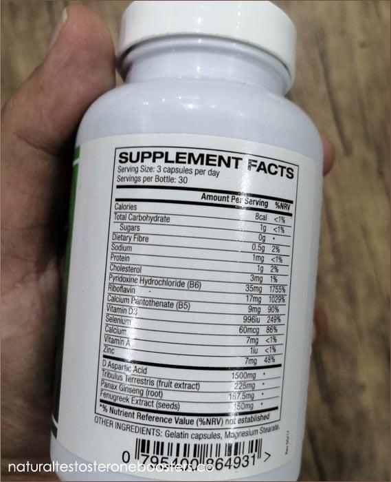 Ingredients in Testo-Max supplements