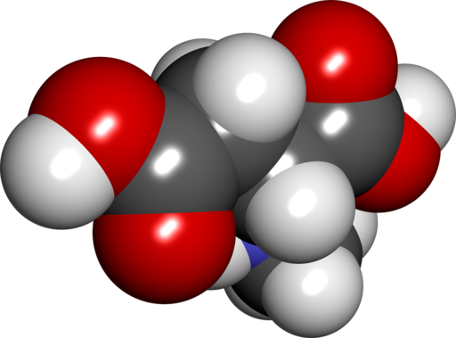 "Pictured: DAA molecule. If ""plain"" DAA boosted testosterone 42% in only 12 days, then what might Prime Male's enhanced-potency D-AA-CC do for T? By SubDural12 (Own work) [Public domain], via Wikimedia Commons"